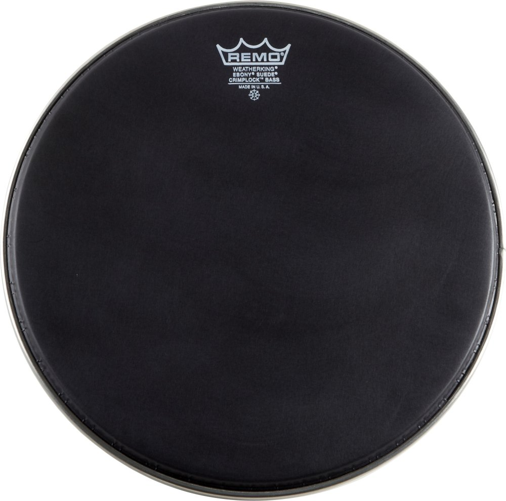 Remo ES-1820-MP 20-Inch Crimplock Marching Bass Drum Head, Black Suede KMC Music Inc