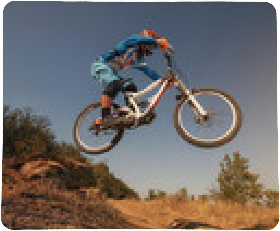 alfombrilla de ratón Bicicleta de montaña ciclista de salto ...