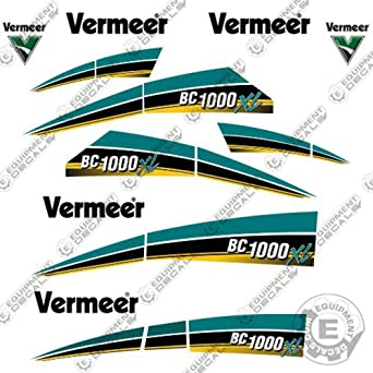 Amazon.com: Vermeer BC 1000 XL Tier 4 Brush Chipper Decal ... on