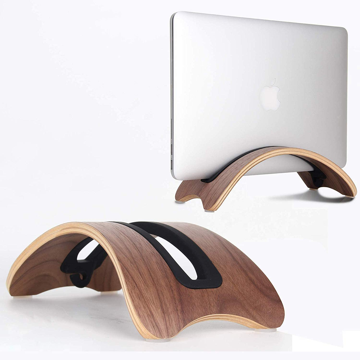 Bl BELK Extensive Type Laptop Suitable Kickstand Second-Gen Wood BookArc for MacBook Pro//Retina//Air Portable Laptop Stand with Thicker Slots for Generic Notebook,Lenovo Laptop Yoga Y50 ThinkPad Dell Laptop XPS Venue Inspiron ASUS Laptop Light Color Paint