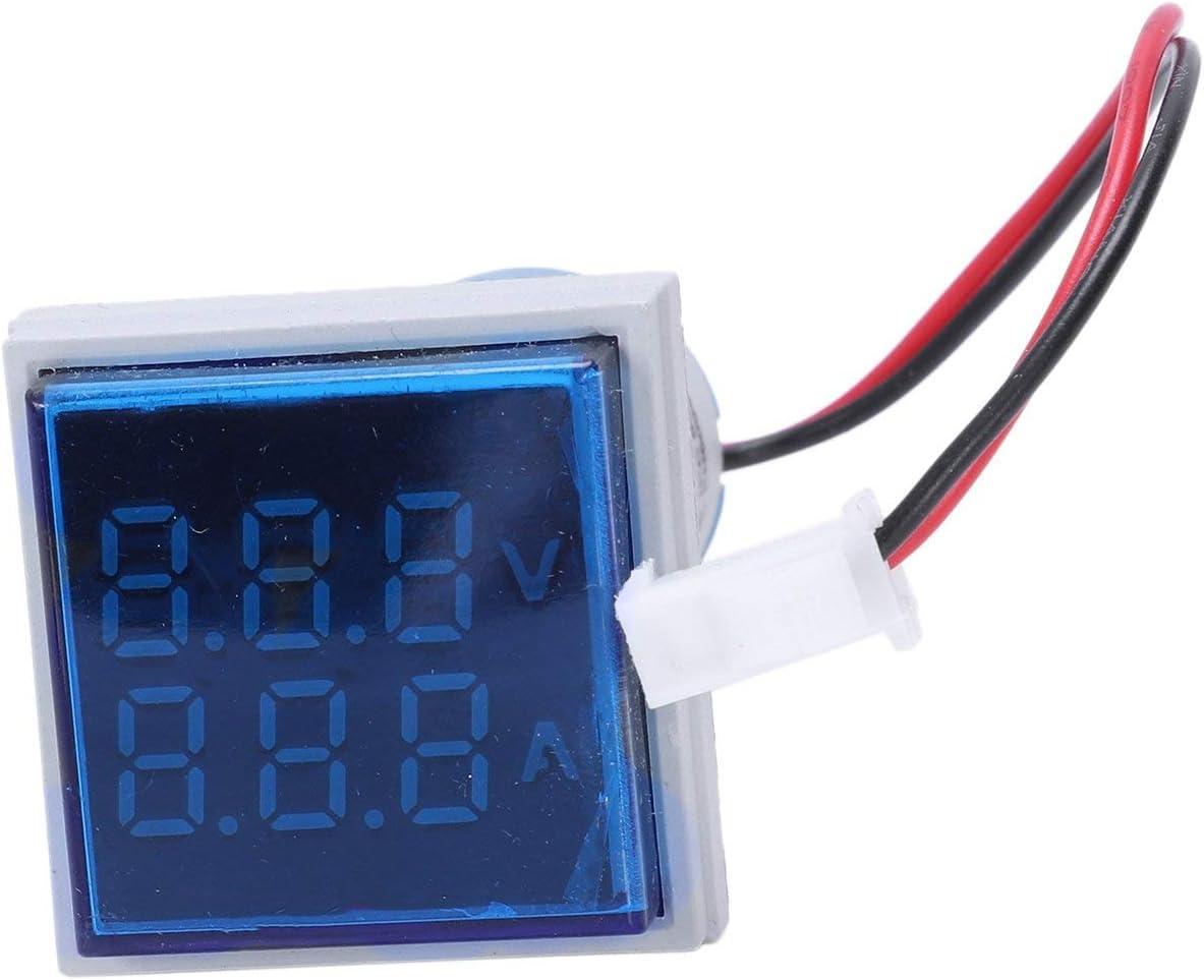JVSISM Led Medidor Digital Medidor de Voltaje Amper/ímetro Volt/ímetro Digital Ac 60-500V 0-100A Azul Gris
