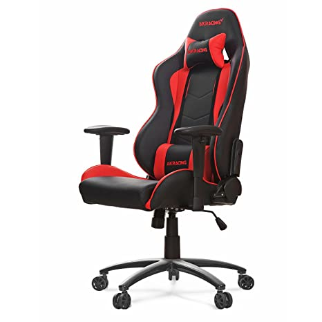 Brilliant Akracing Nitro Gaming Chair Faux Leather Black Red 56X54X14 2 Cm Theyellowbook Wood Chair Design Ideas Theyellowbookinfo
