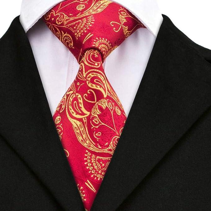 WOXHY Corbata de los Hombres Dn-367 Corbatas de Seda Tejidas ...