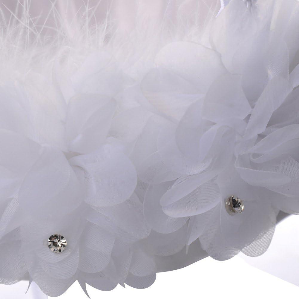 Nrpfell Panier De Fille De Fleurs De Mariage Panier De Fille De Fleur De Dentelle D/écoration Mignon Romantique Stockage De Bonbons De Mariage Occidental Fournitures De Mariage