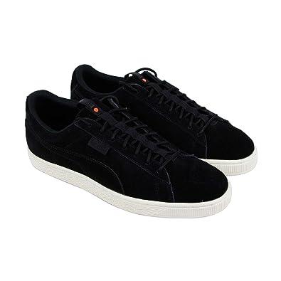 699677c4d2f Puma Suede Classic Fof Mens Black Suede Lace Up Sneakers Shoes 7