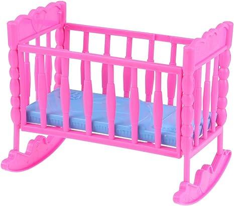 Color Aleatorio ni/ños y ni/ños Toyvian Mini Cama Muebles de casa de mu/ñecas Cuna de beb/é Habitaci/ón para ni/ños Dormitorio Casa Mini Juego de imaginaci/ón para beb/és