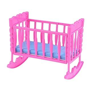 Toyvian Mini Doll Culle e Letti Baby Doll Swinging Bed Bambini Pretend Gioca Toy Baby Crib (Colore Casuale)