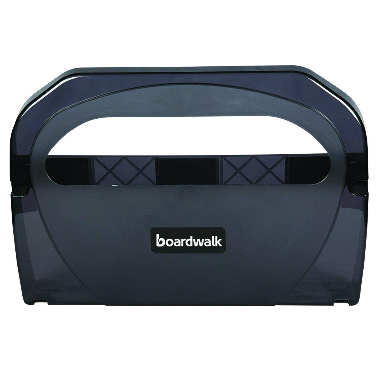 Boardwalk TS510SBBW Toilet Seat Cover Dispenser, Plastic, 17-1/4'' Width, 3-1/8'' Depth, 11-3/4'' Height, Smoke Black, 11.75'' Height, 17.25'' Width by Boardwalk