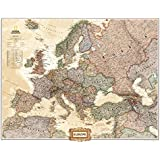 Europe Political Map, Executive Style Collections Poster Print, 31x24