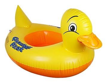 V-SOL Flotador para Bebés con Asiento de Juguete Piscina Niños Modelo Pato Amarillo: Amazon.es: Juguetes y juegos