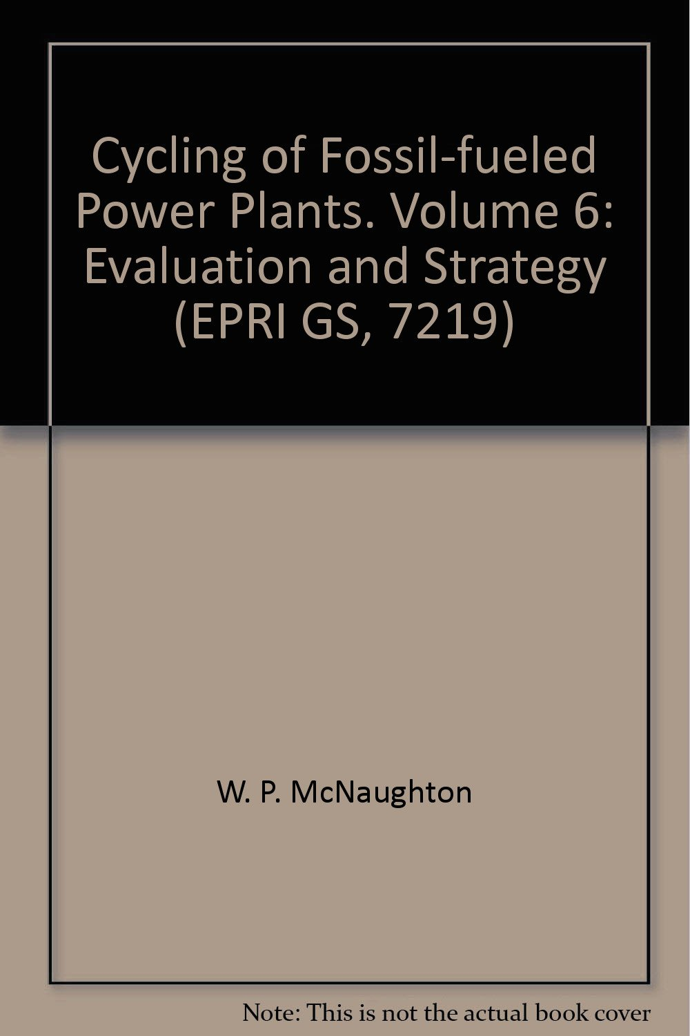 Cycling of Fossil-fueled Power Plants. Volume 6: Evaluation and Strategy (EPRI GS, 7219)
