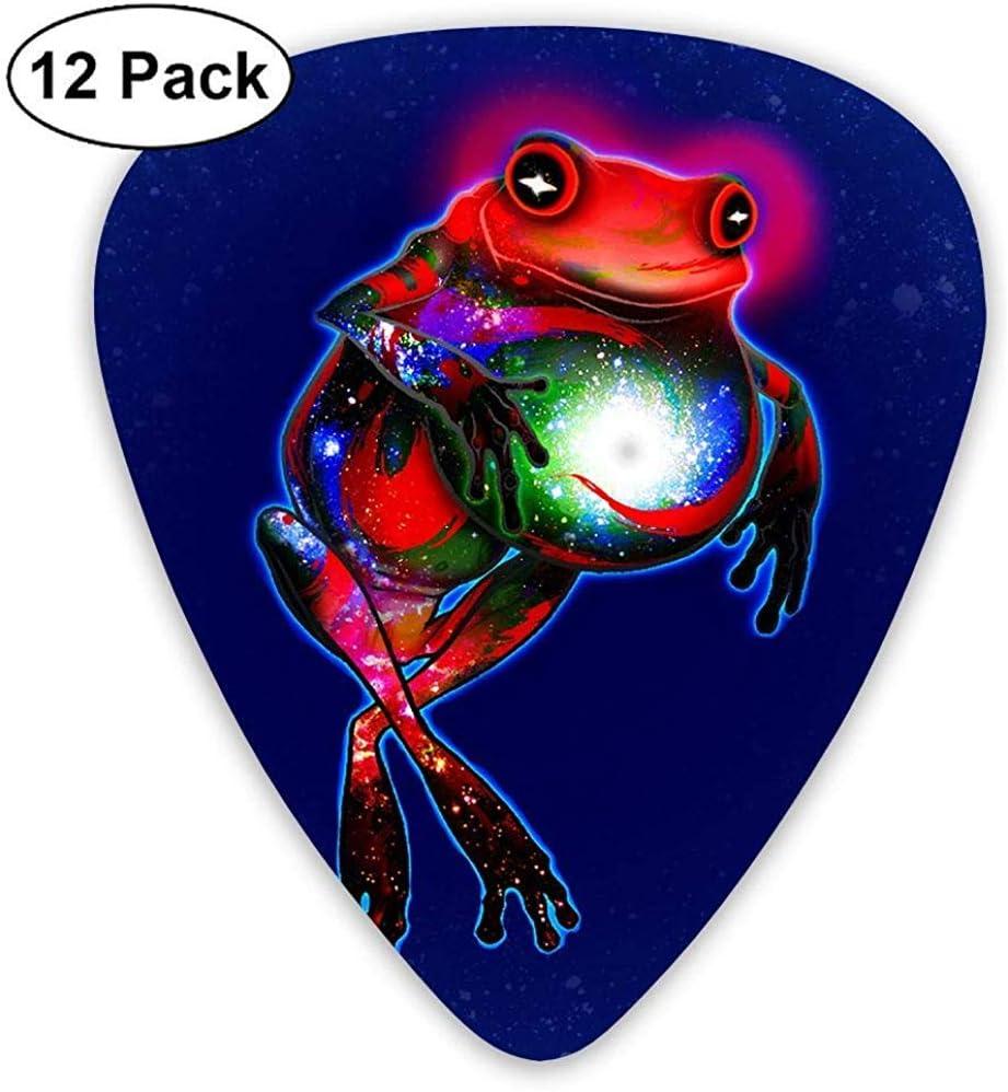 Paquete de 12 Elecciones de guitarra eléctrica clásica de moda Plectrums Frog Artwork Instrument Bass Guitarist estándar