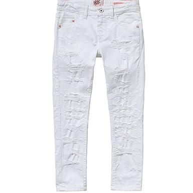16b1550b54f01c Vingino Vingino Caitlin Mädchen Jeans destroyed white denim (10-140 ...