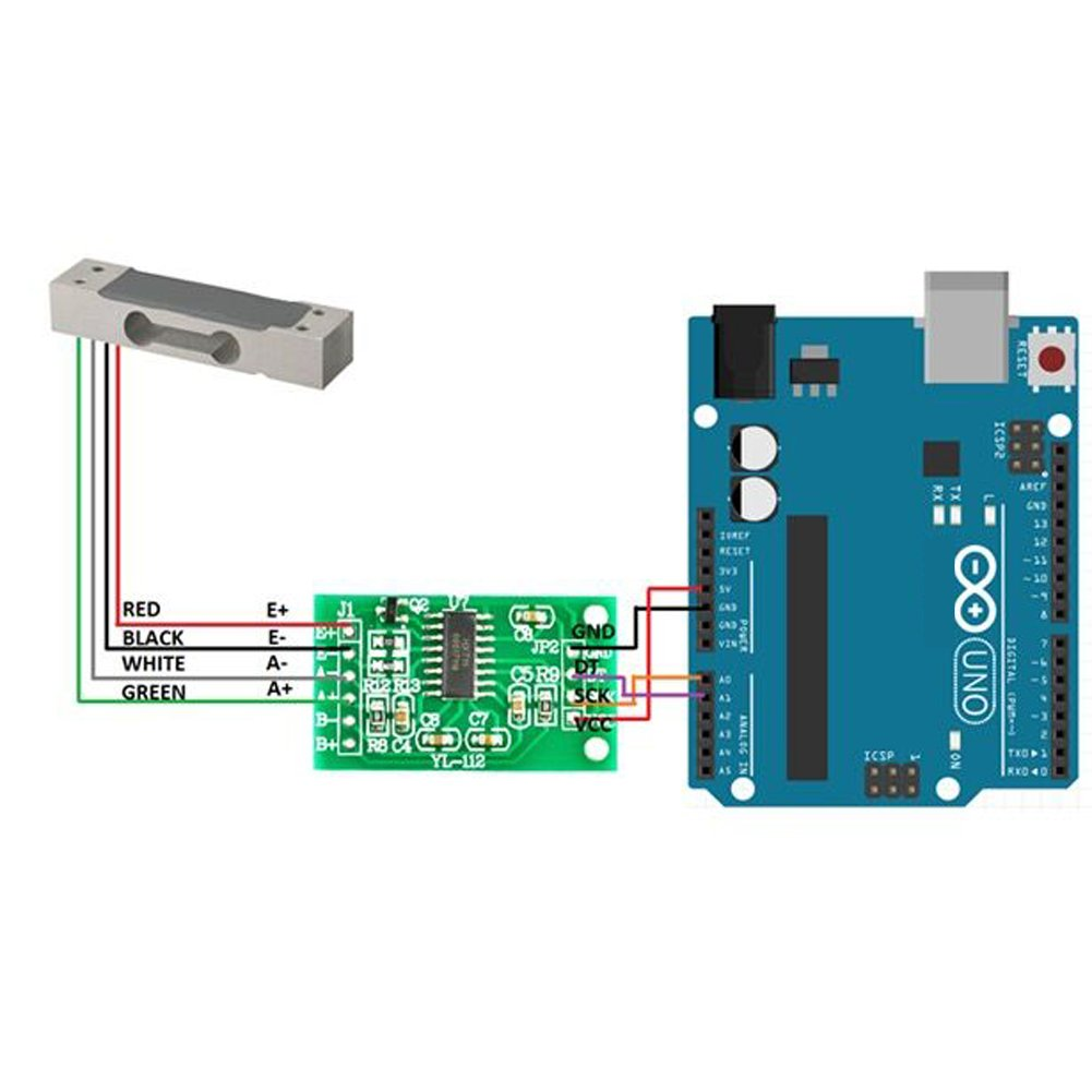Amazon.com: Geekstory 20kg Load Cell Weight Sensor Electronic ...