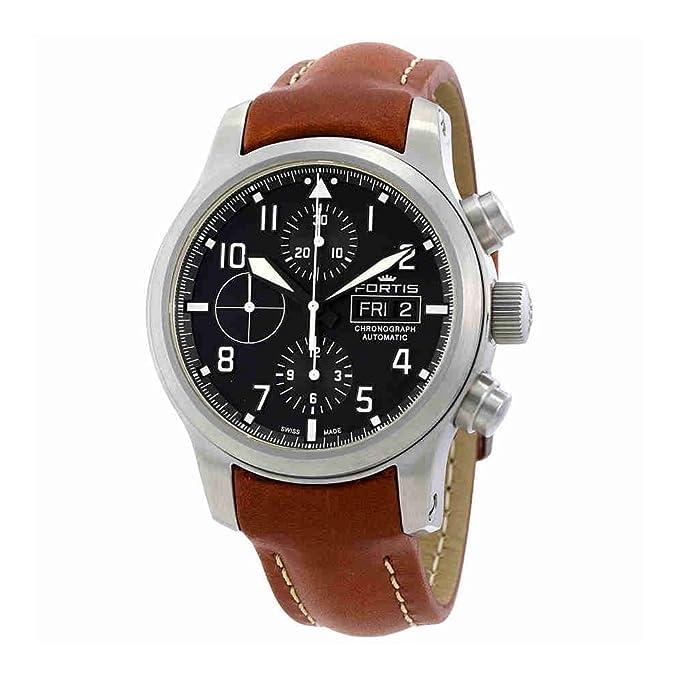 Fortis Reloj los Hombres Aeromaster Steel Automática Cronógrafo 656.10.10 L 08: Amazon.es: Relojes