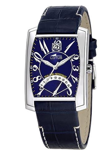 Lotus Xtrem 9938-2 - Reloj de caballero de cuarzo con correa de piel azul: Amazon.es: Relojes