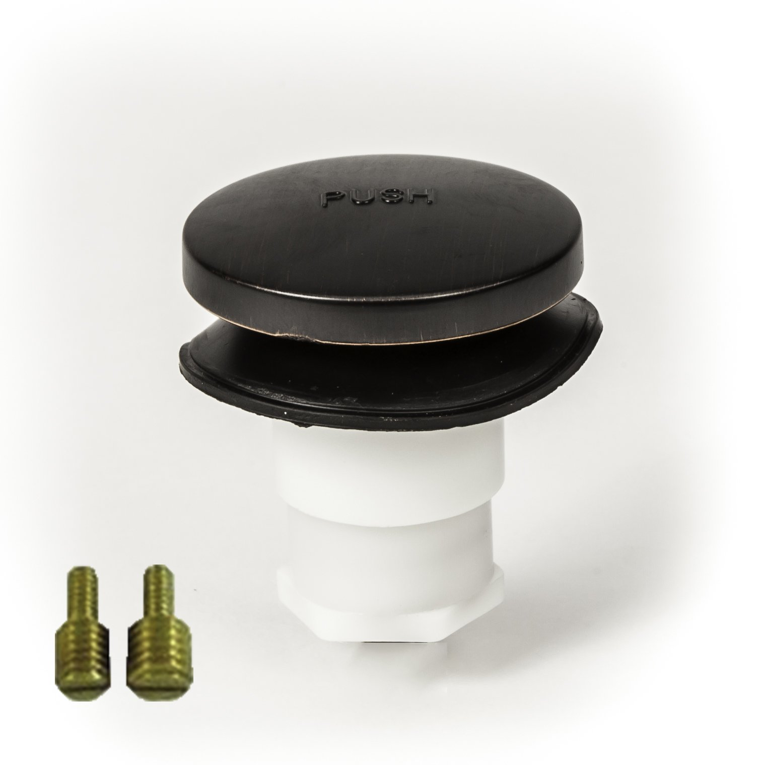 PF WaterWorks Universal Toe Touch (Tip Toe or Foot Actuated) Bathtub/Bath Tub Drain Stopper includes 3/8'' and 5/16'' Fittings; Oil Rubbed Bronze; PF0935-ORB-TT-S by PF WaterWorks