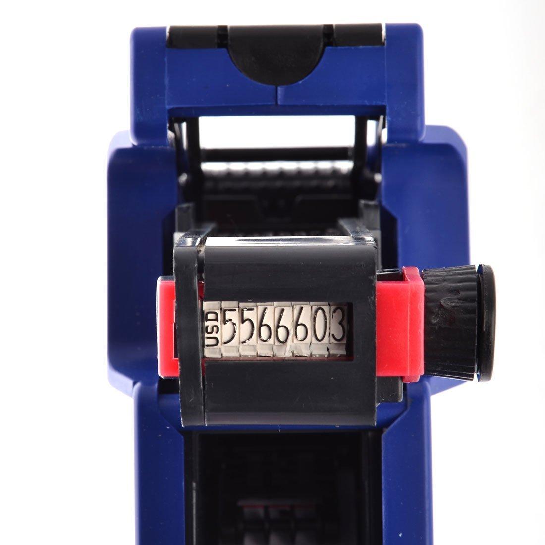 DealMux Ceia Mercado Loja Loja 8 dígitos Preço Labeller rolo Etiqueta de tinta azul