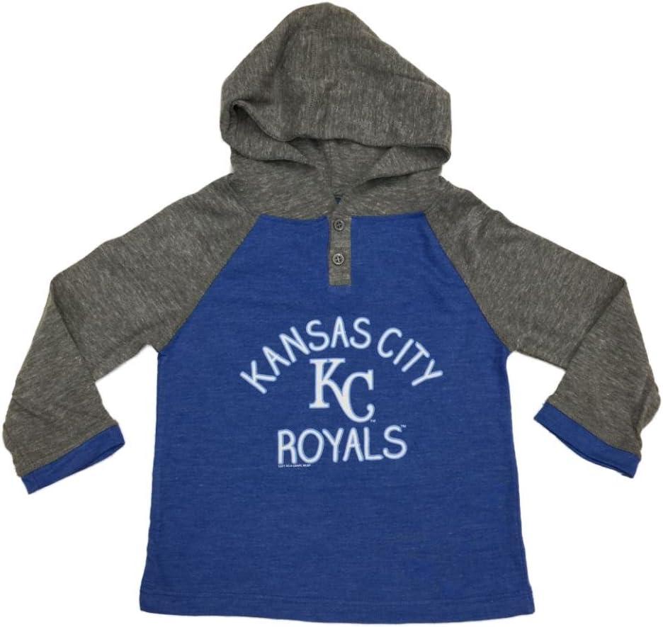 Kansas City Royals Saag Toddler Girl 'sブルー長袖フード付きTシャツ