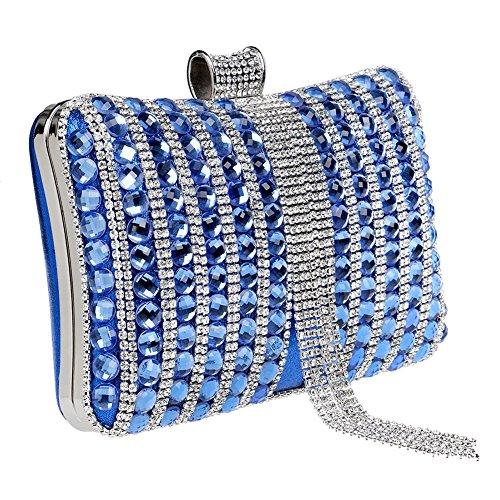 Clutch Dress Ladies 1 Bag Fashion Rhinestone Evening QEQE Color Bag Banquet 3 Women's 6BwIwq