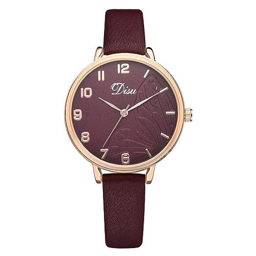 Reloj Mujer Correa De Cuero Reloj Dama Moda Lujo Cuarzo Relojes ...