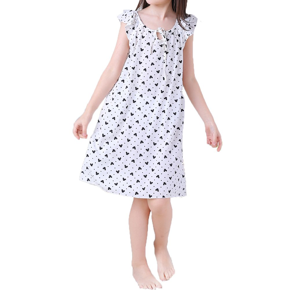 ADAHOP Mother and Daughter Cotton Nightgown Pajamas Family Clothes Outfits