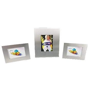 3 Portafoto De Metal Plateado, 1</b> Portafoto: 7,50