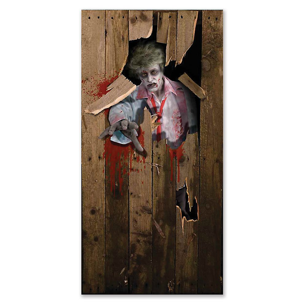 Bristol Novelty HI250 Halloween Door Poster, Multi-Colour, One Size Zombie HI250
