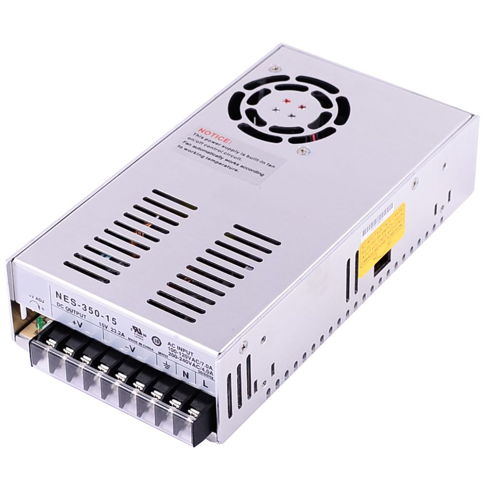 New Switch Power Supply 15V 23.2A 350W 215x115x50mm for Mean Well MW MeanWell NES-350-15