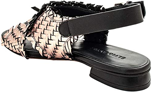 ELVIO ZANON Mujer Sandalias Negro Size: 36 EU: Amazon.es