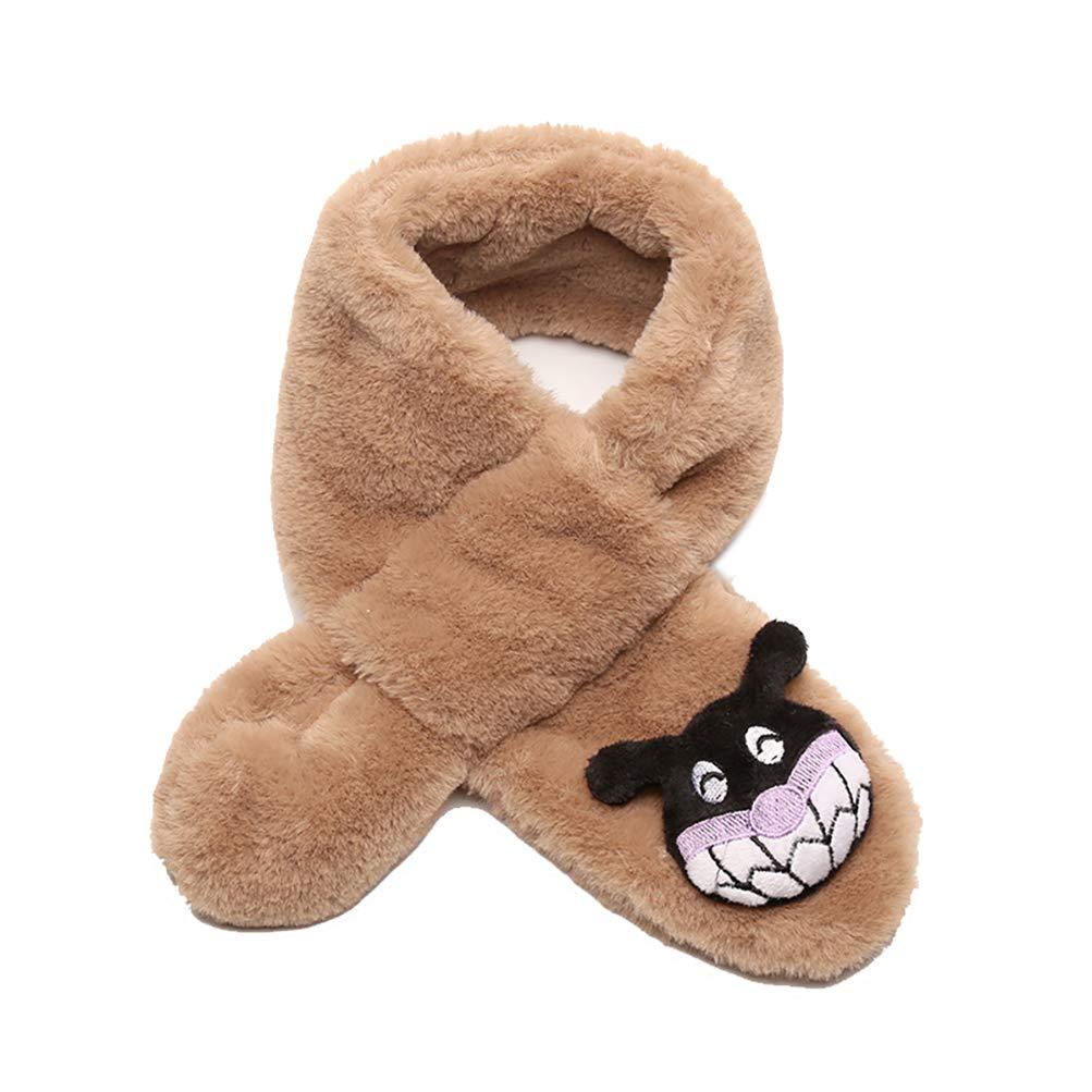NICOLA Kids Winter Warm Scarves Neck Warmer Cute Winter Plush Scarf for Outdoor