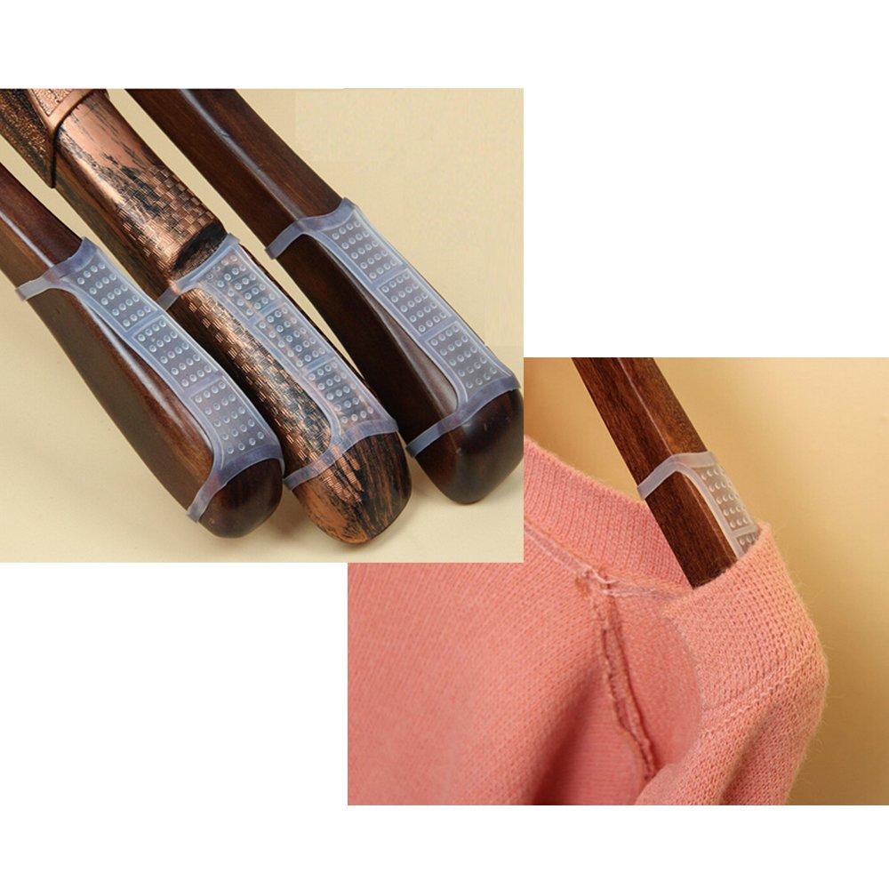BCP 50 Pcs Clear Non-Slip Rubber Clothes Hanger Grips Clothing Hanger Strips