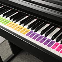 su-luoyu piano stickers for kids 88 keys piano keyboard sound name stickers beginners piano & keyboard music note stickers Upright Pianos Accessories