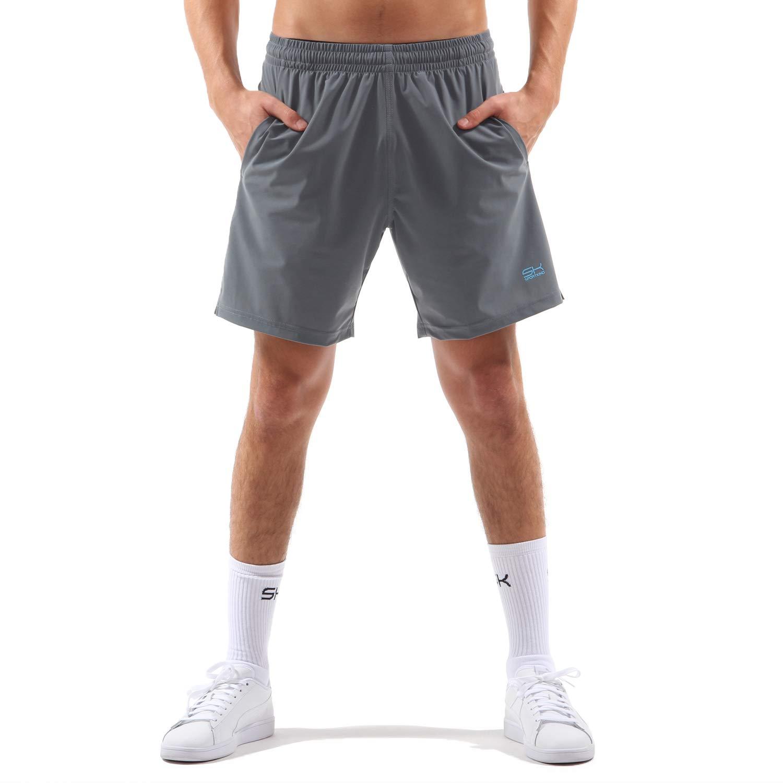 Sportkind Jungen & Herren Tennis/Training/Sport Shorts Regular, steingrau, Gr. XL