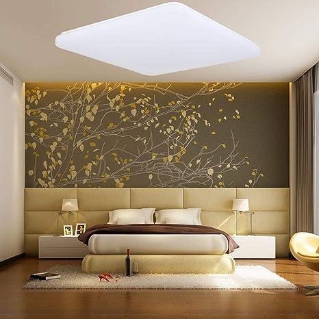HENGMEI 24W Lámpara de techo LED Ultradelgado Plafón de techo Blanco frio LED Integrado Iluminación Interior para Pasillo Salón Cocina Dormitorio