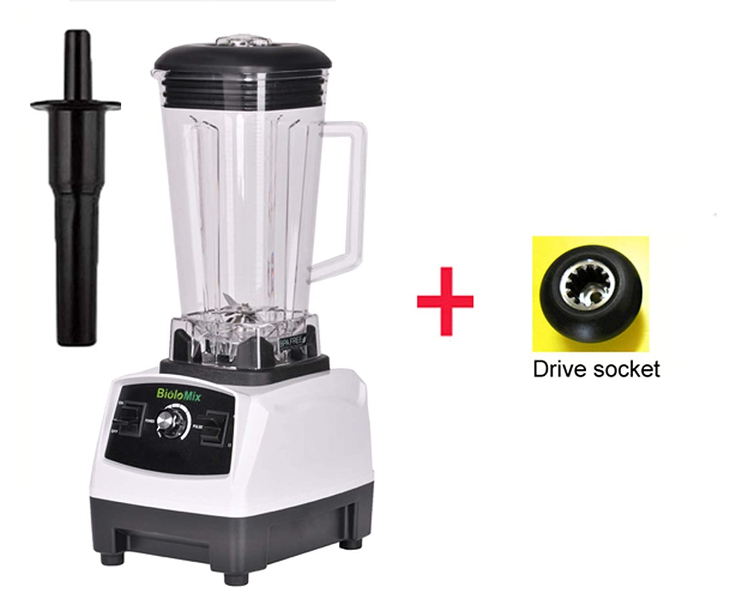 2200W 3Hp 2L G5200 High Power Ial Home Professional Smoothies Power Blender Food Mixer Juicer Fruit Processor,White Extra Driver,Uk Plug
