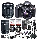 Canon EOS Rebel T6 DSLR Camera w/ EF-S 18-55mm / 55-250mm Lens & 48 GB TTL Flash Gun Bundle