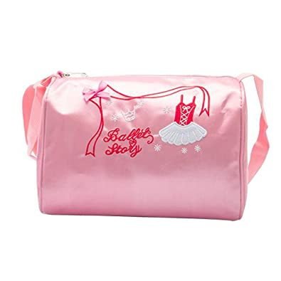 1cab9f6d7f DoGeek Sac a Main Rose Cartable Dance Enfant Fille Brodé Chausson de Ballet  Cartable Sac de