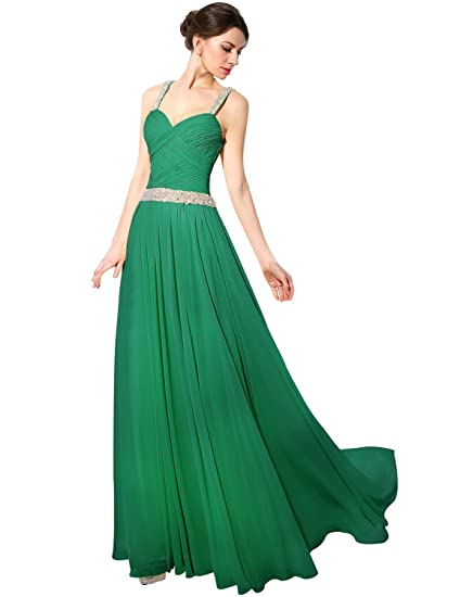Prom dresses dark green