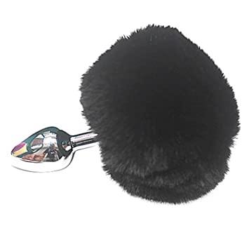 a0b77584896 Amazon.com   Anal Plug For Women Rabbit-Tail Anal-Plug Adult-Toys Metal Anal  Toys Buttplug Bunny Tail Anal Beads Butt-Plug Unisex Sex Toy For Couples  black ...