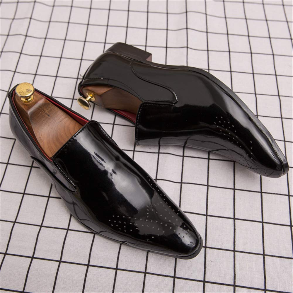 Mens peas Shoe Slip On Leather Comfortable Formal Business peas Shoe for Men