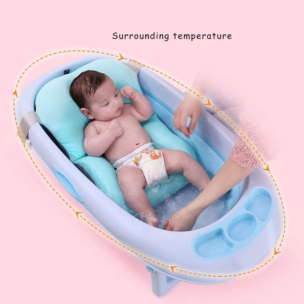13,0 Zoll Schweineform faltbar rutschfeste Neugeborenen Badewanne Matte Luftkissen Neugeborenen Badekissen Baby Badekissen 18,3 Hellgr/ün