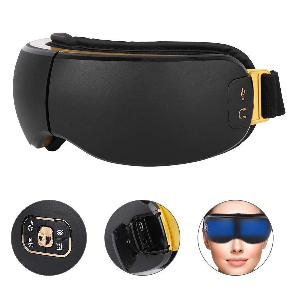 アイマッサージャー視力保護ツール、ホットプレスアイマスク、疲労緩和、アイケアツールEUプラグ1   B07QQYFN36