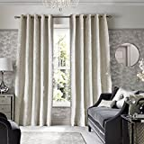 Kylie Minogue Grazia Oyster Eyelet Curtains - 66x90''/168x229cm