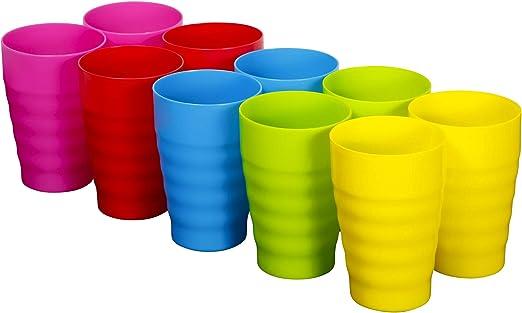 Amazon.com: Plaskidy – Juego de 10 tazas de plástico ...