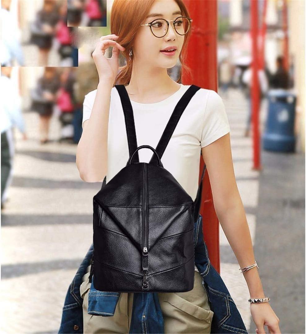 Women Backpacks Preppy Style Vintage Bagpack Large Capacity Solid Casual Daypack Female Backpack Rucksacks For Girls winered L35cm W29cm Thk15cm