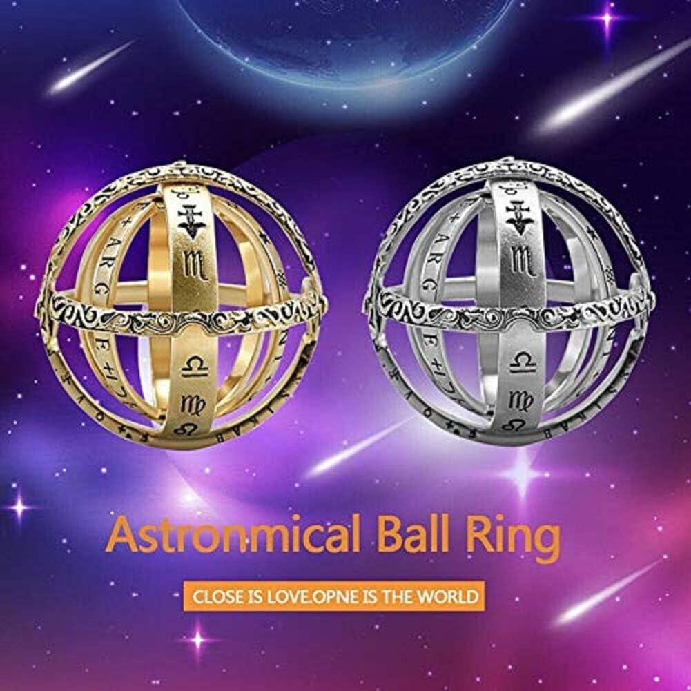 Astronomische Kugel Kugelring kosmische Fingerring Paar Liebhaber faltbarer