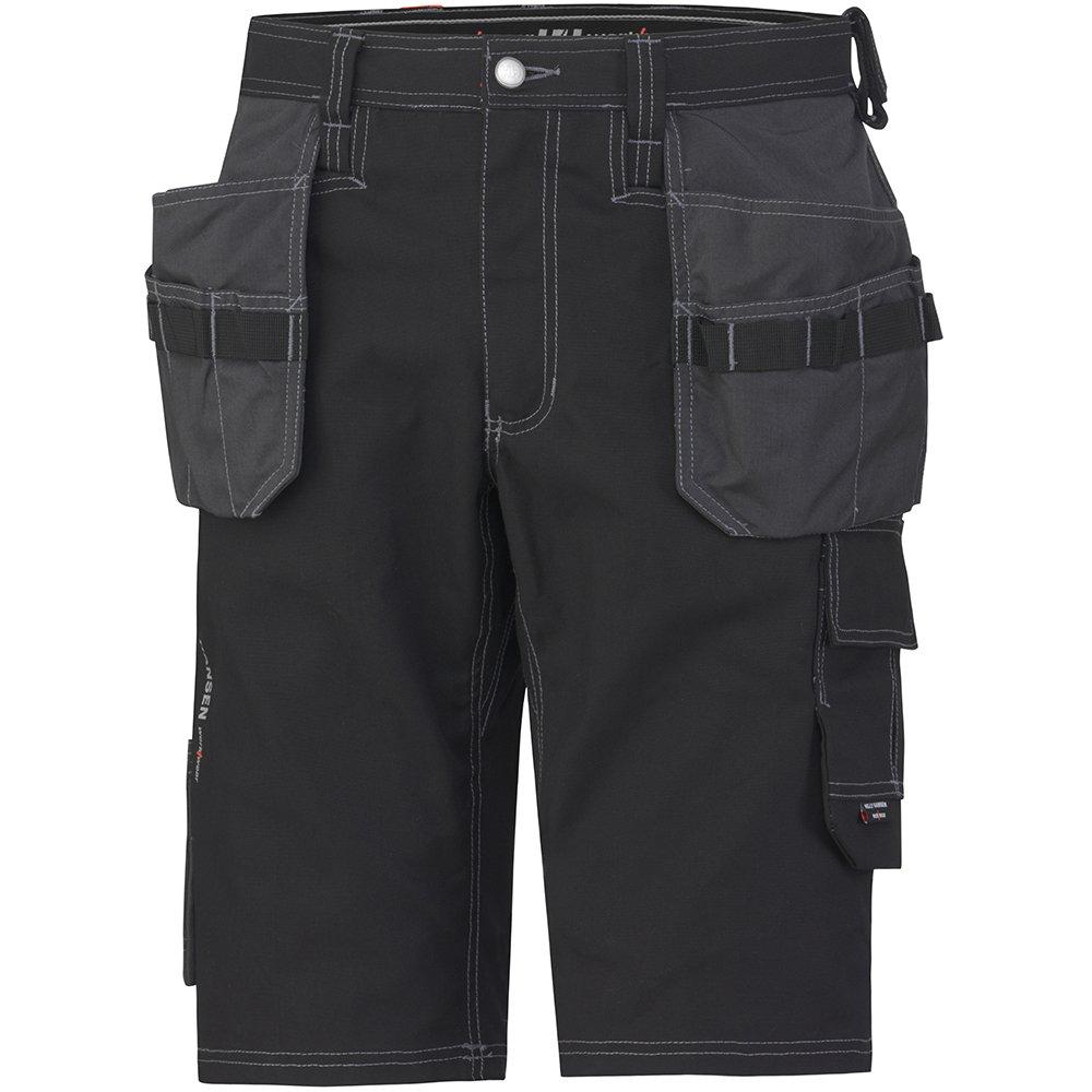 schwarz Helly Hansen Workwear Kurze Montagehose Chelsea Construction Shorts 76444 robuste Arbeitsshorts 999  46