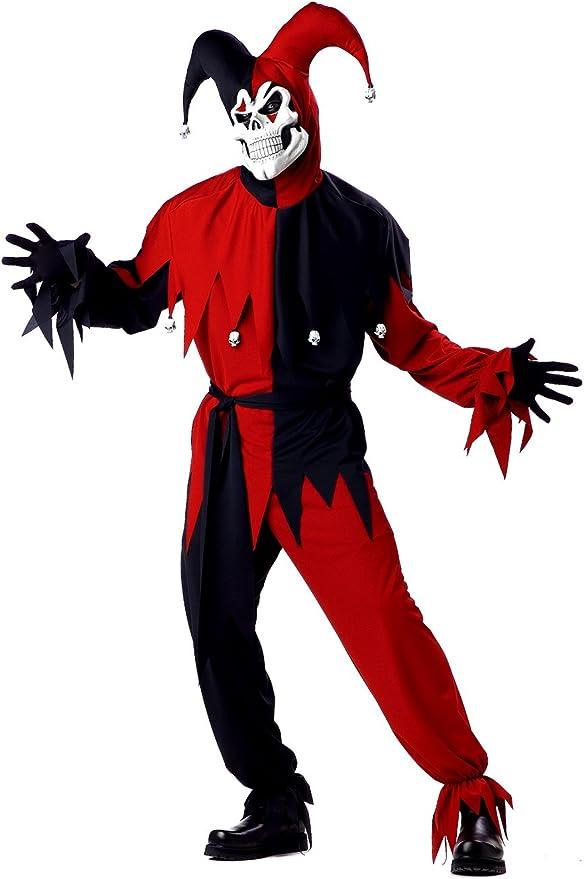 California Costumes 00746 - Disfraz De Bufón Malvado / Joker Rojo ...