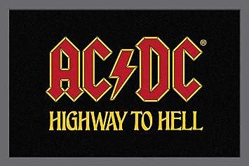 52843910812d70 Amazon.de  empireposter - Fußmatte - AC DC - Highway to Hell - Größe ...